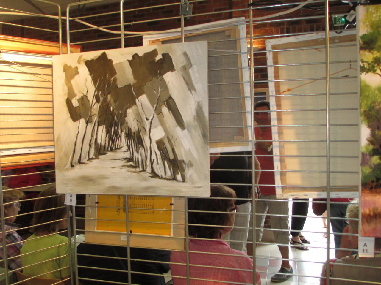 toiles des peintres des rues d'Hamel