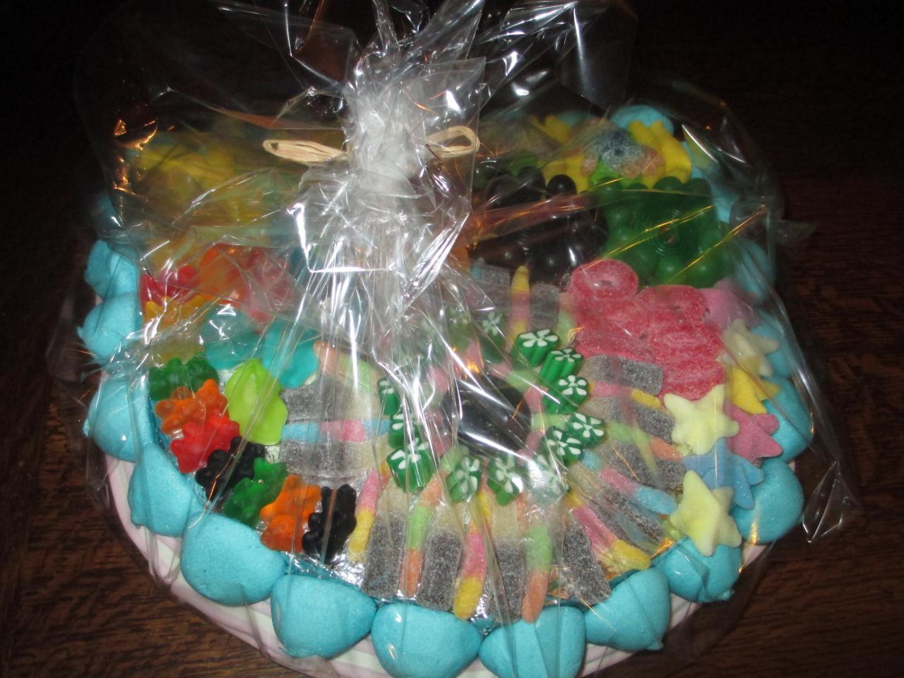 gâteau de bonbons emballé pour la vente