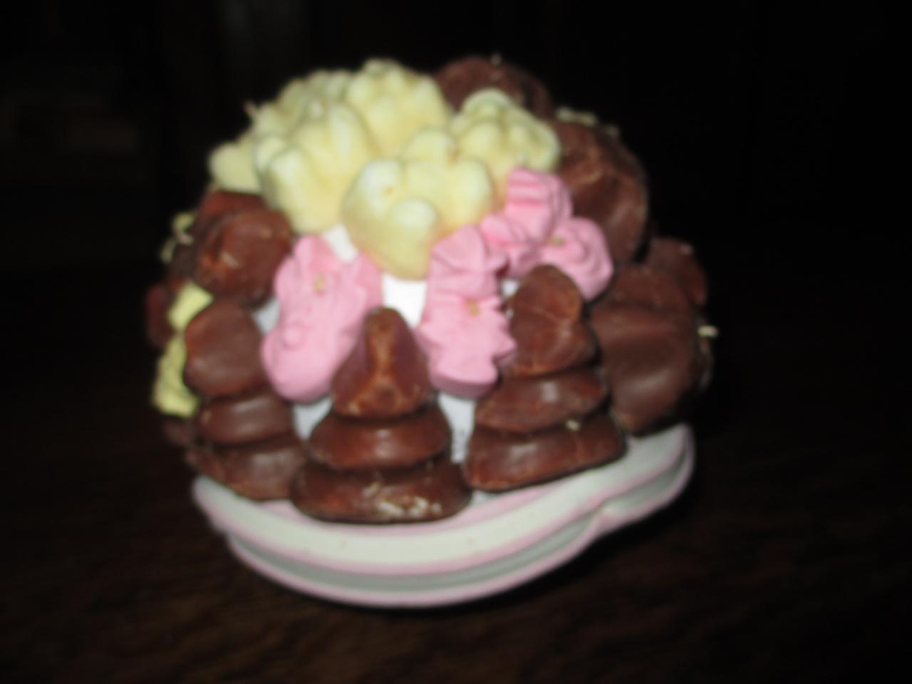 petite pièce guimauve et chocolat