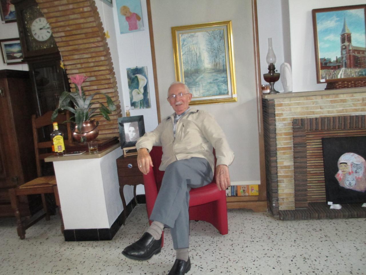 Matin d'Hiver  -  par Christian Hoefkens - et un visiteur ami.