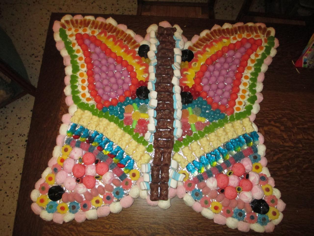 papillon en bonbons pour le buffet