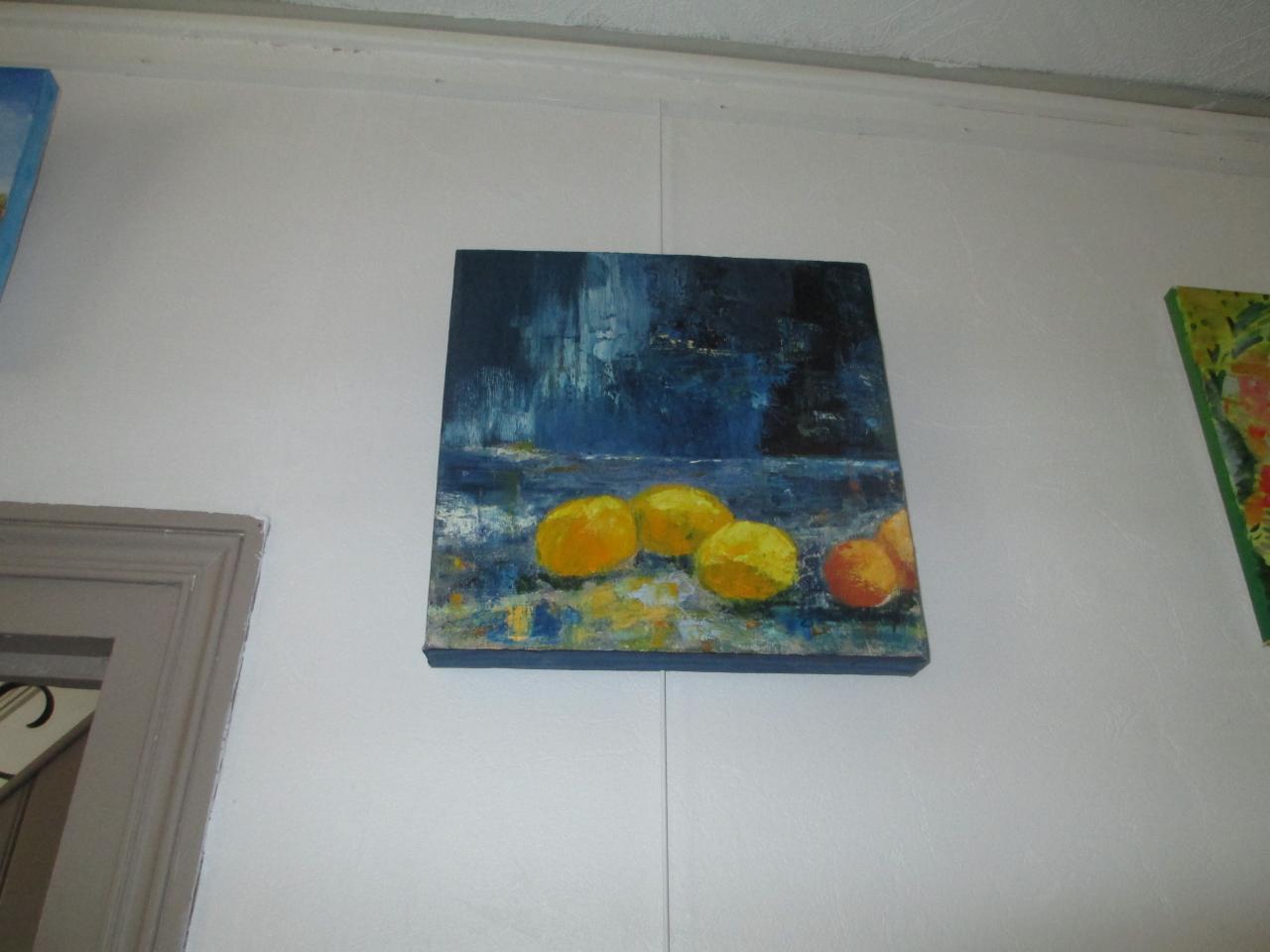 Les Citrons  huile sur toile par Jany Barthélémy
